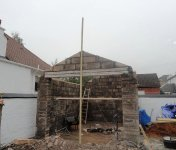 Old garage renovation and conversion under construction