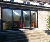 House extension with a lot of window space