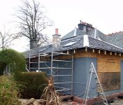 House extension insulation under construction