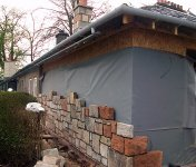 House extension - matching a stone wall material