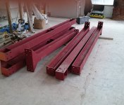 Steel supports for structural wall