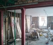 Office extension - steel support for structural wall