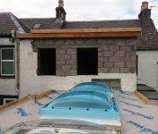 Waterproofing a flat roof
