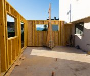 Extension wooden frame made by joiners Glasgow