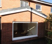 House extension with big window - close-up